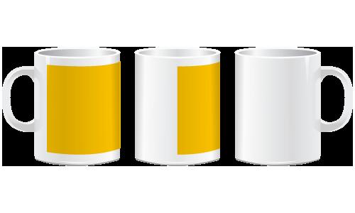 Hrnek - žlutý lem - Potisk pro leváka